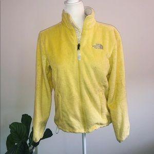 Yellow Fuzzy Northface Full Zip Jacket